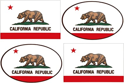 bear ca los angeles pch decal California Shaped Cali Flag Sticker