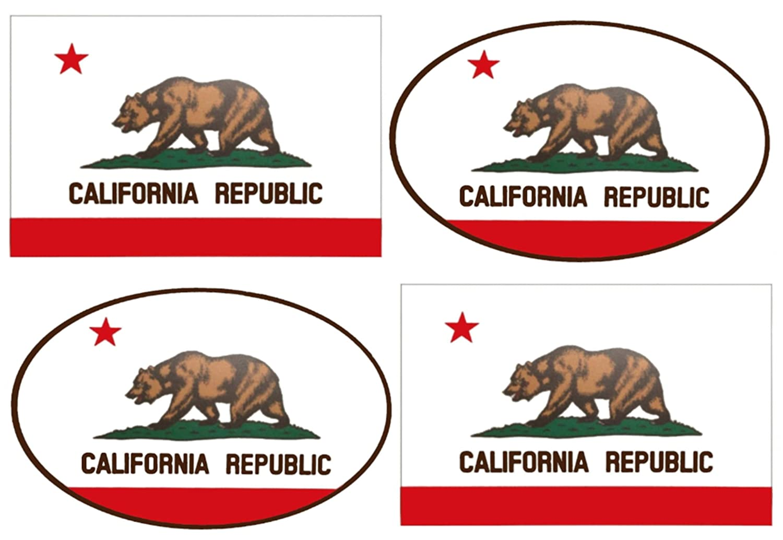 Wheezeway California Flag Sticker California Republic Cali Bear Bumper Window Auto Car Truck RV