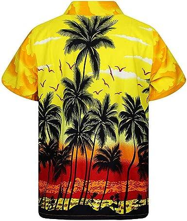 ALISIAM Camisa Hawaiana de Disfraces para Hombre - Manga Corta ...