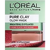 L'Oreal Paris 3 Pure Clays and Red Algae Glow Mask, 50 ml