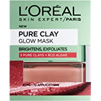 L'Oreal Paris 巴黎欧莱雅 3 Pure Clays 红泥红藻粘土亮肤护理面膜,50 毫升