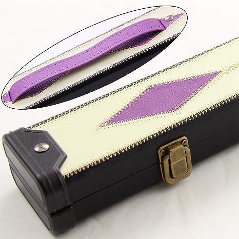Parche de piel de lujo púrpura de diamantes 2pieza efecto billar ...
