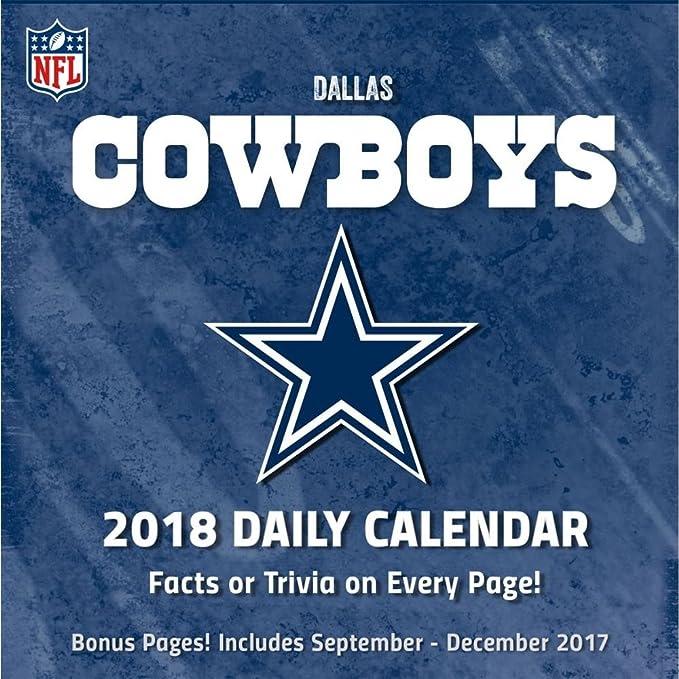 Amazon dallas cowboys 2018 desk calendar cell phones accessories dallas cowboys 2018 desk calendar voltagebd Choice Image