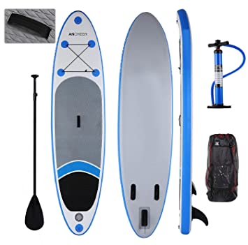 AIMADO 10ft Tabla Paddle Surf Inflable Tablero de Paddle PVC Stand Up Tablero ISUP con Paleta