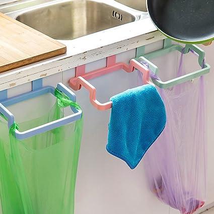 MYLL Soporte para bolsas de basura para puerta de armario y cuelga de basura, polipropileno, beige, 03#