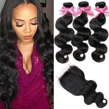 Amazon free queen 8a brazilian virgin hair 3 bundles with free queen 8a brazilian virgin hair 3 bundles with closure body wave 100 unprocessed human pmusecretfo Choice Image