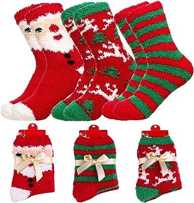 Home Socks Anti Slip Thick Fleece Fluffy OneSize Warm Winter Christmas Bed Socks