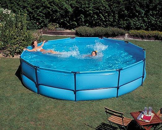 Tubo de acero de piscina Set 440 x 90 cm: Amazon.es: Jardín