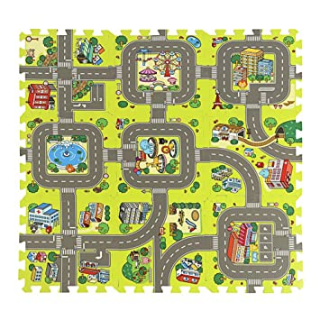 Amazon Com Assr Road Rally Play Foam Floor Tiles For Kids
