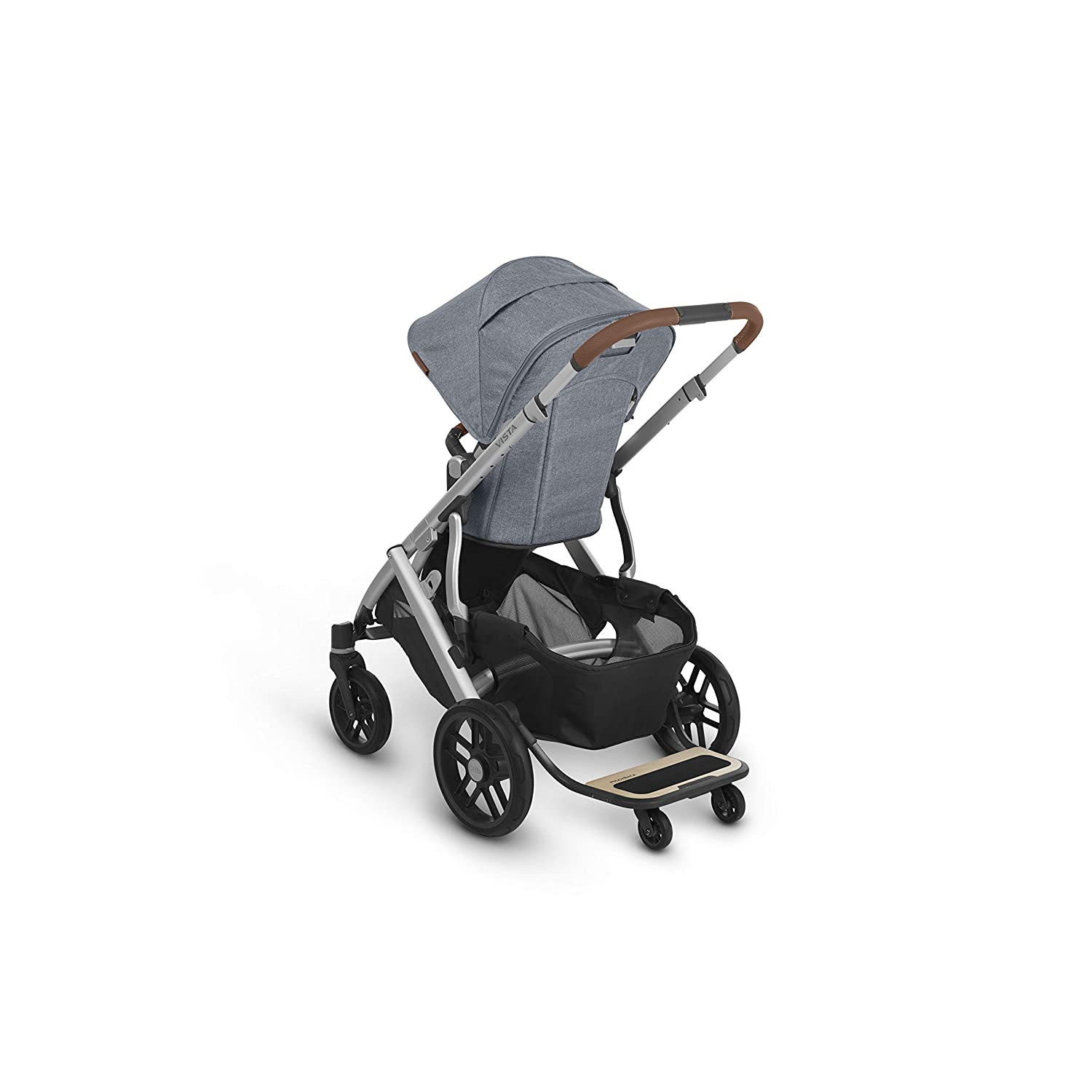 + Piggyback for Vista /& Vista V2 Deep Sea//Silver//Chestnut Leather Finn UPPAbaby Vista V2 Stroller