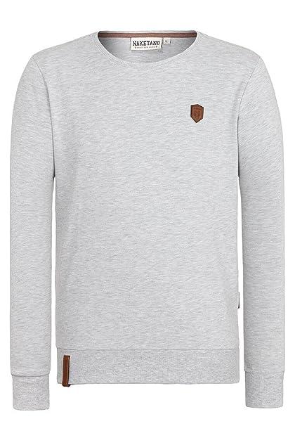 Naketano Men's Casual Plain Long Sleeve Sweatshirt: Amazon
