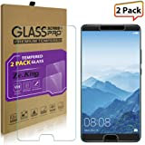 [2-Pack]Huawei Mate 10 Tempered Glass Screen Protector, ZeKing 0.33mm 2.5D Edge 9H Hardness [Anti Scratch][Anti-Fingerprint] Bubble Free, Lifetime Replacement Warranty