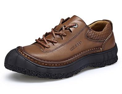 Hommes Hommes Hommes JEEP Chaussures en Cuir de Vache Occasionnels Hommes élégant aca680