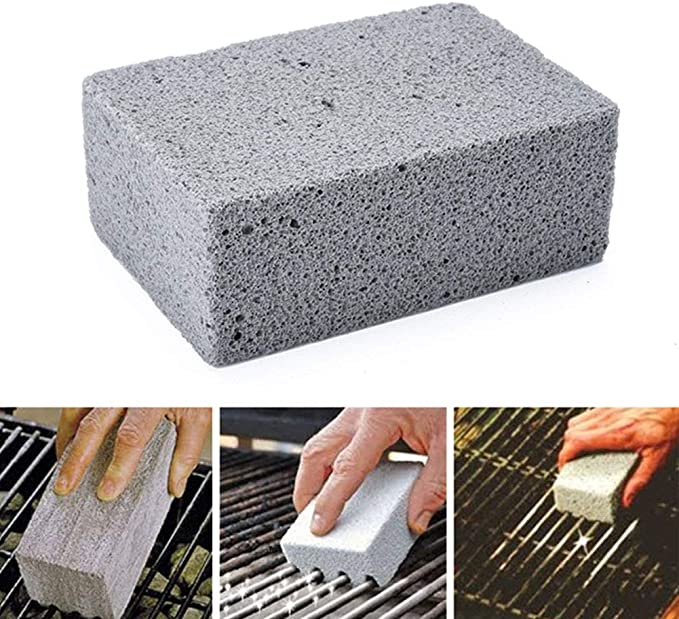 Bloc de cuisson en acier pour barbecue en pierre