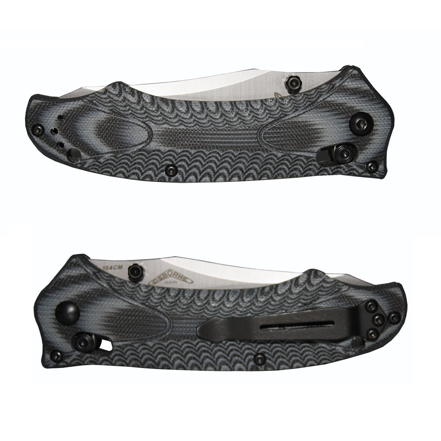 Title: Benchmade - Rift 950, Plain Reverse Tanto, Satin Finish, Gray and Black Handle by Benchmade (Image #2)