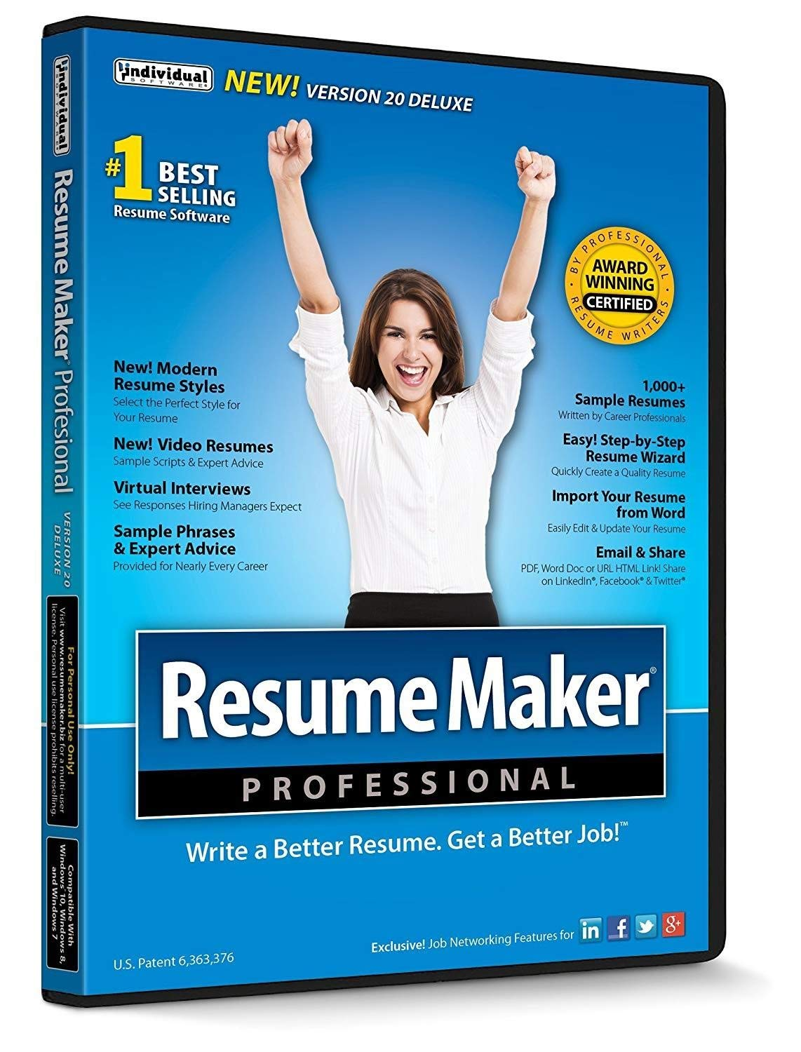 ResumeMaker Professional Deluxe 20 by Individual Software