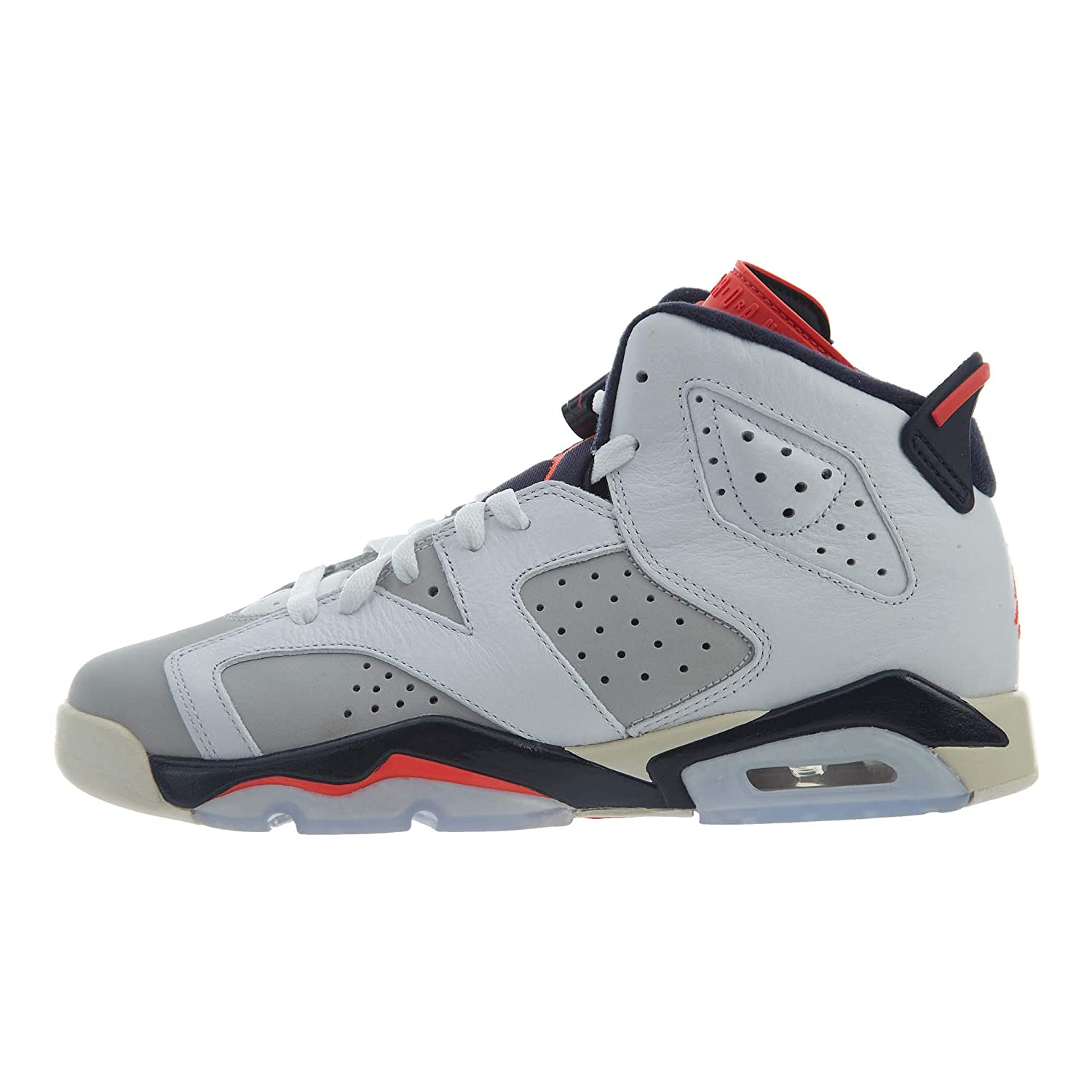 new arrive ae4f6 9dee5 Amazon.com   Jordan Kids  Nike Air 6 Retro Bg White Mango Green 384665-114    Basketball