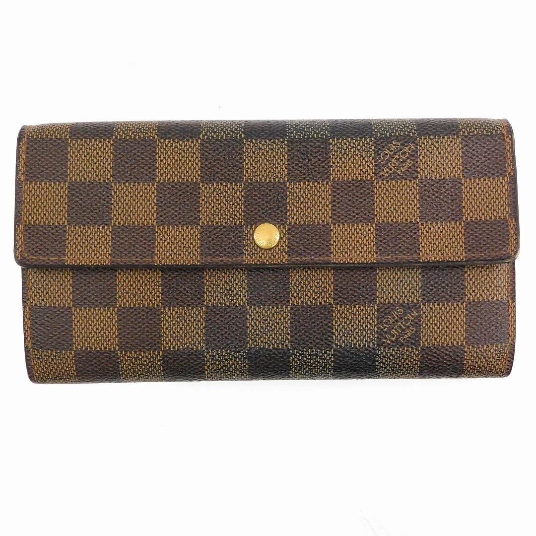 [ルイヴィトン] LOUIS VUITTON 二つ折り財布 ダミエ N61724 PVC×レザー X17001 中古   B07BHKJWB1