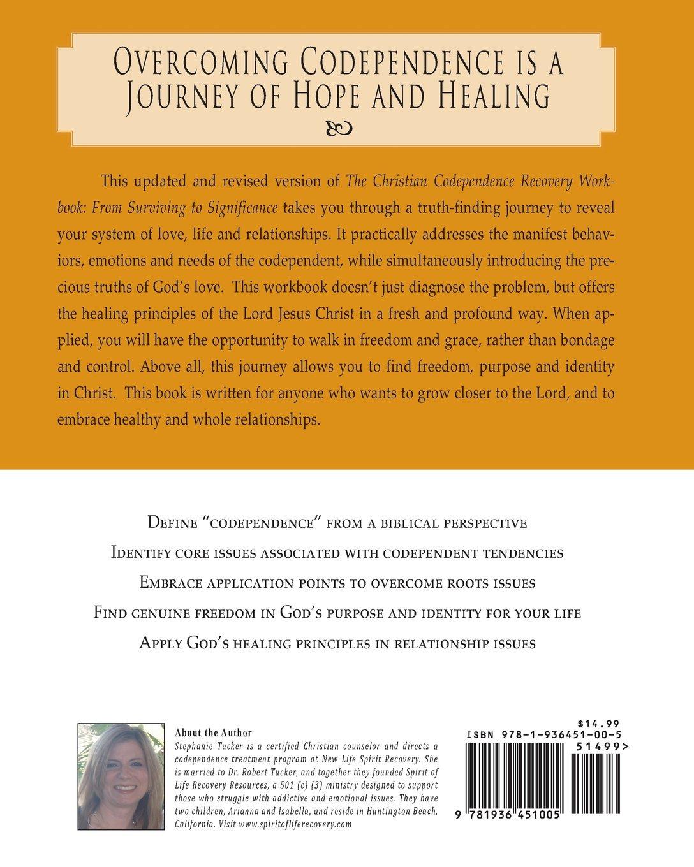 Workbooks codependency workbook free : The Christian Codependence Recovery Workbook: From Surviving to ...