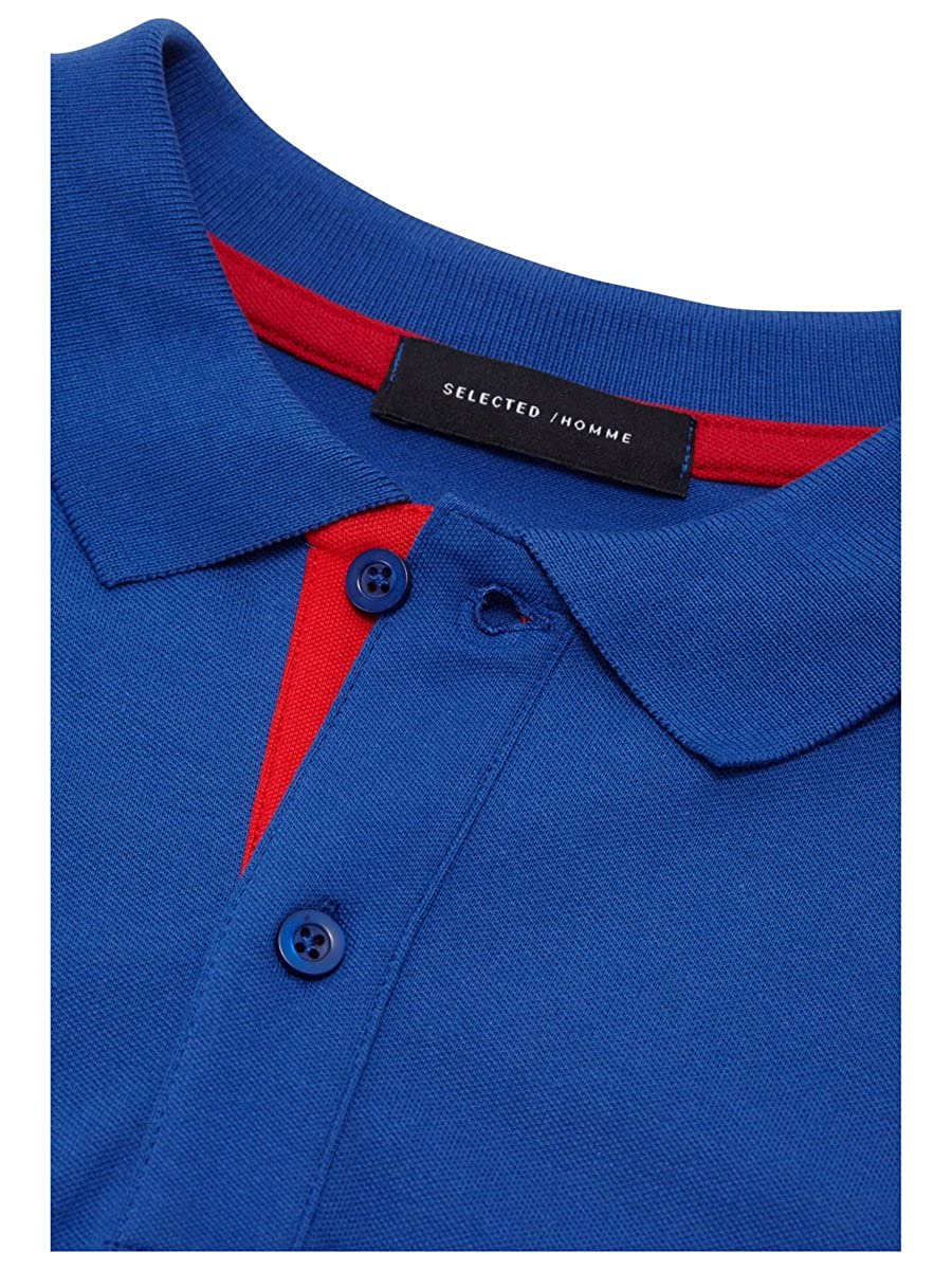 good texture new authentic official images SELECTED HOMME MEN'S POLO SHIRT WITH POLO SHIRT BY JACK ...