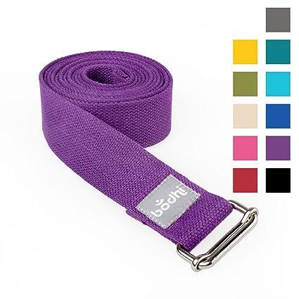 Asana Belt Pro Yoga Correa con cierre de metal, correderas ...