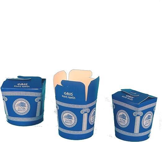 500 gyros Cajas gyrps Snack Box gyros to go Caja gyros Caja rígida ...