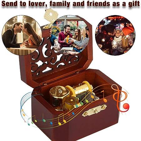 HEEPDD Retro Caja de música Musical de Cuerda grabada Caja de música Octogonal Gran Regalo para Mujeres niñas cumpleaños día de San valentín decoración para el hogar(Blanco): Amazon.es: Hogar