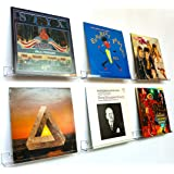 Sooyee Clear Vinyl Record Shelf Wall Mount 6 Pack,Acrylic Album Record Holder Display Your Daily Listening in Office Home
