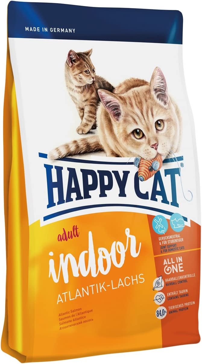 Happy Cat Fit & Well Indoor Adult Salmon Comida para Gatos - 4000 gr