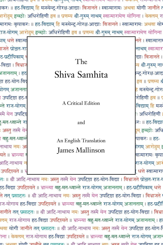 The Shiva Samhita: A Critical Edition and An English ...