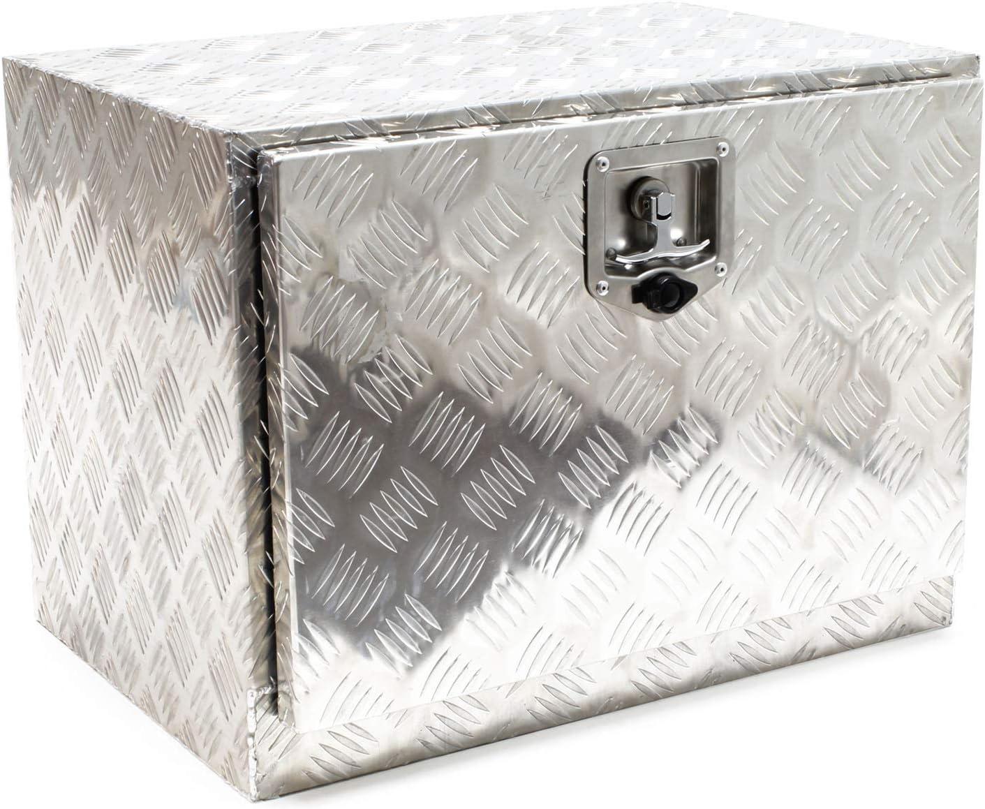 Cofre aluminio remolque vehículo Caja almacenaje enganche coche Caja herramientas Accesorios coche: Amazon.es: Bricolaje y herramientas