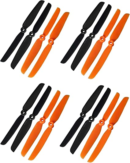 """4Pairs of 6030 6x3/"""" Carbon Fiber Propeller Props CW CCW for RC Quadcopter"""