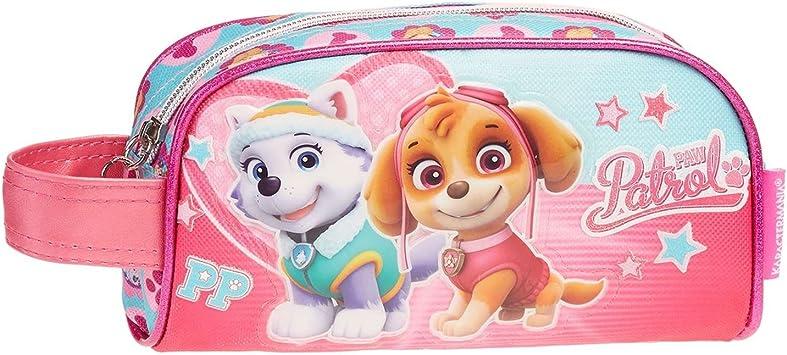 PAW PATROL-La Patrulla Canina Estuche portatodo, Color Turquesa, 20 cm (Karactermanía 30176): Amazon.es: Juguetes y juegos