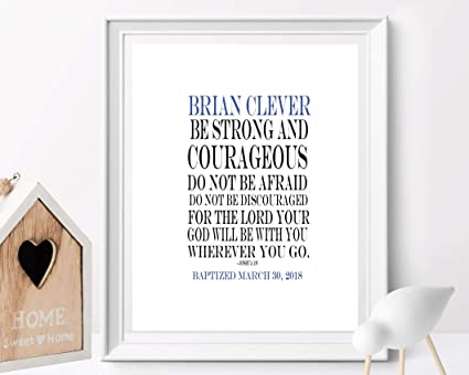 Amazoncom Arvier Baptism Printable Be Strong And