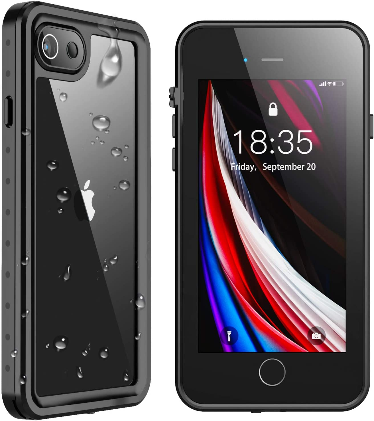 SPIDERCASE iPhone SE 2020 Case/iPhone 8/7 Waterproof Case, Built-in Screen Protector Full Body Rugged Protective Case, Waterproof Shockproof Dirtproof Snowproof, Case for iPhone SE 2020/8/7, 4.7