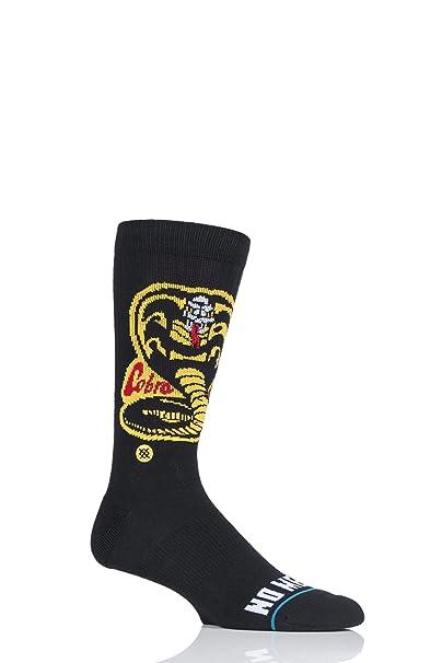 Stance Black The Karate Kid - Cobra Kai Socks (L, Black) at Amazon Mens Clothing store: