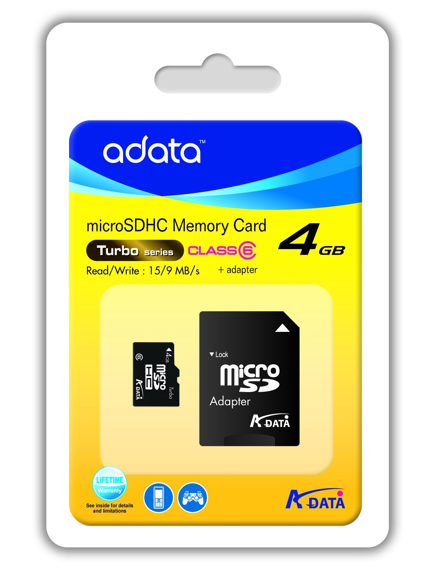 ADATA 4 GB Class 6 microSDHC Flash Memory Card 4GUSDHC6