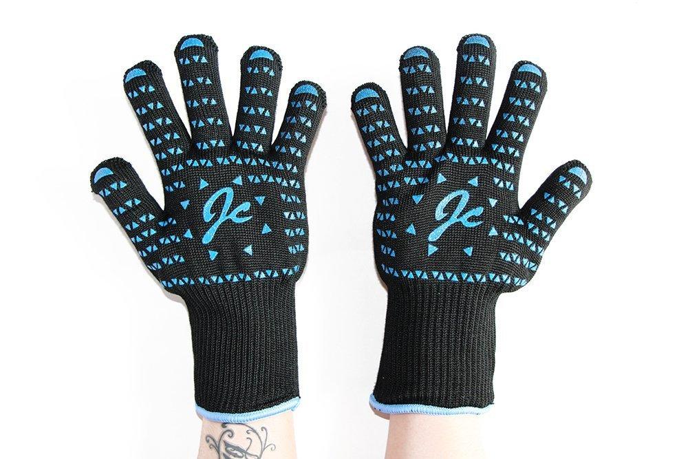 JCデザインProグリル料理gloves-100 %ケブラー認定932 °F熱抵抗 X-Large ブラック B06XT7R44H Inverted triangle(Black) Inverted triangle(Black)
