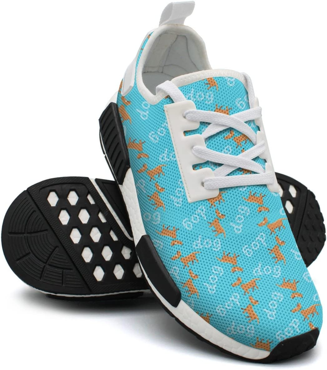 Cute Dog Womens Comfortable Lightweight Tennis Sneakers Gym Outdoor Sports Shoes