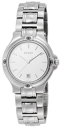 6373933e3778 Amazon | [グッチ]GUCCI 腕時計 9045 SS シルバー YA090318 メンズ ...