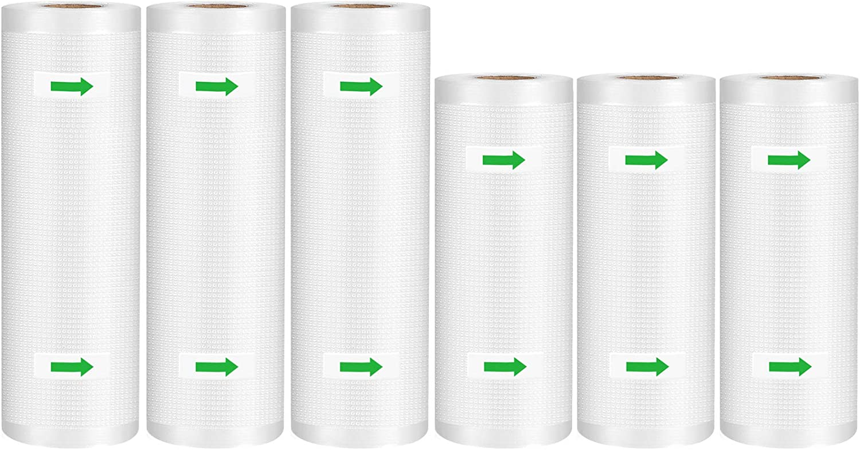 Syntus Vacuum Sealer Bags 6 Pack Commercial Grade Food Saver Bag Rolls, 3 Roll 8