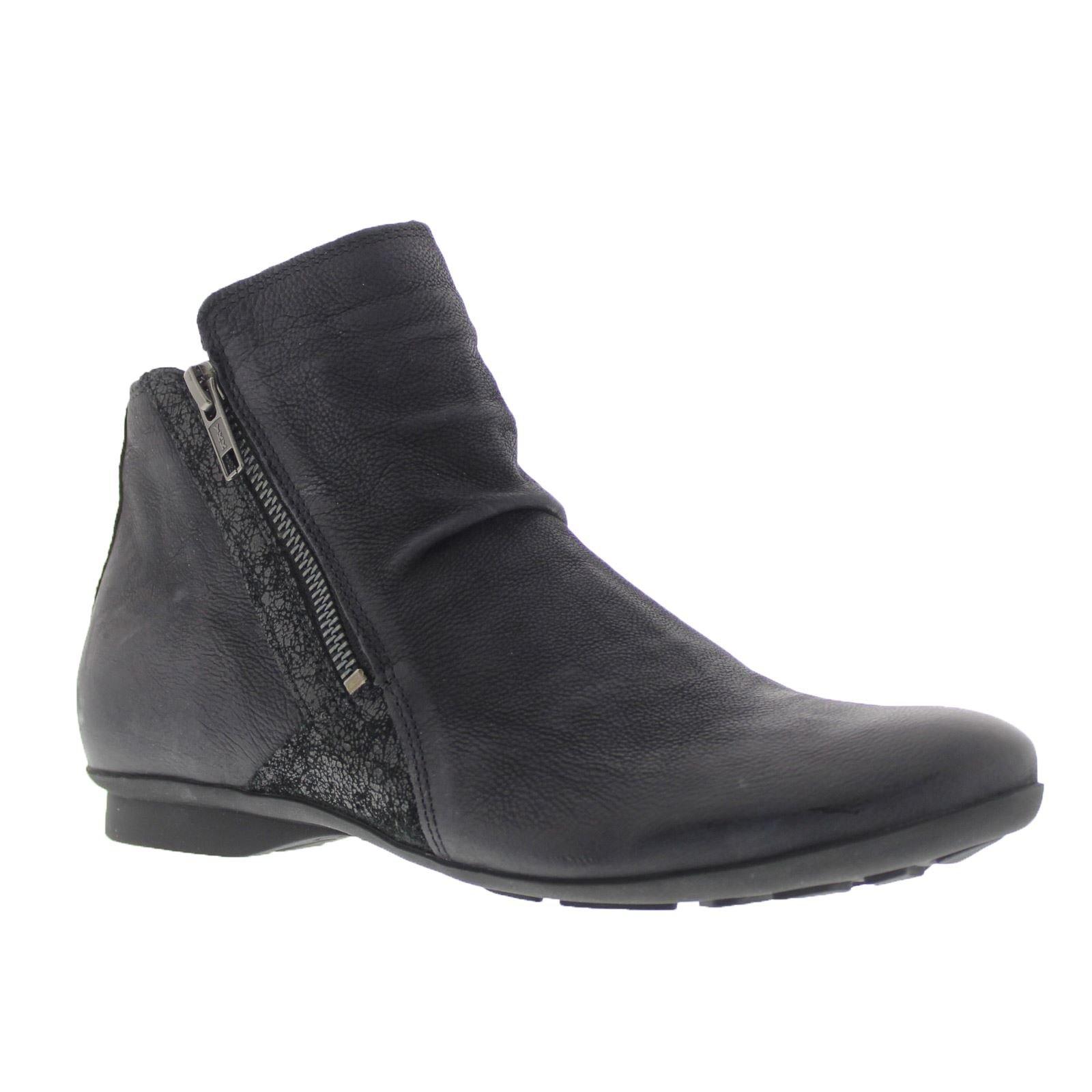 Think Womens Keshuel Black Kombi Leather Boots 39 EU