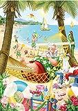Beach Santa Christmas Card Advent Calendar