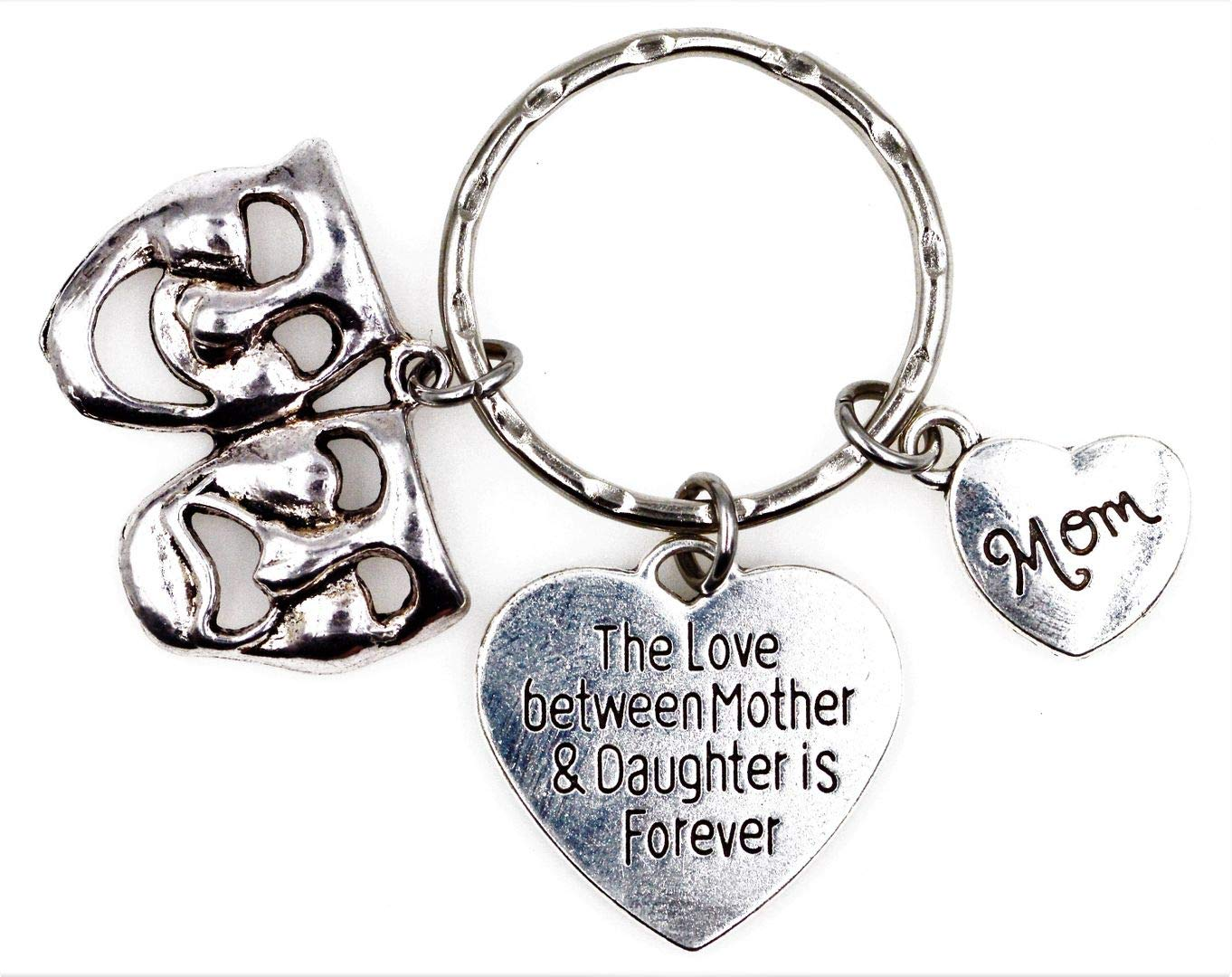 Its All About...You The Love Between Mother and Daughter is Forever Comedy Tragedy Mask Daughter Keychain 6A