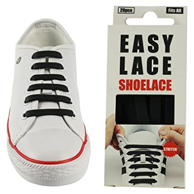 401d4152e201 Easy Lace Box No Tie Shoelaces For Trainers   Converse 100% Silicone  (Brown)  Amazon.co.uk  Shoes   Bags