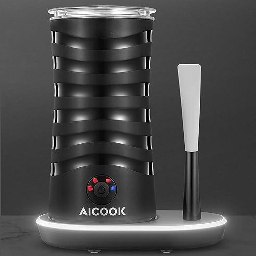 Aicook Espumador/Batidor de Leche, 4 En 1 Espumador para Leche Electrico, Diseño Único En El Mercado, Espuma Caliente/Frío, Apagamiento Automático, ...