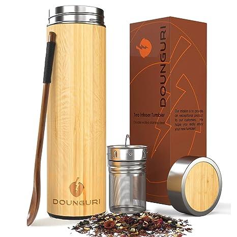 Amazon.com: DOUNGURI Taza de té de bambú 100% orgánico con ...