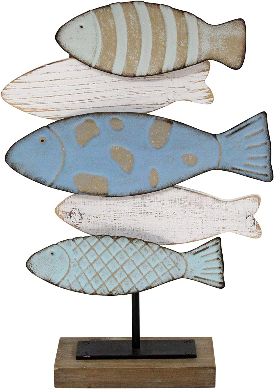 Stratton Home Décor Stratton Home Decor School of Fish Décor Table top, 12.52W x 4.00D x 18.75H, Multi