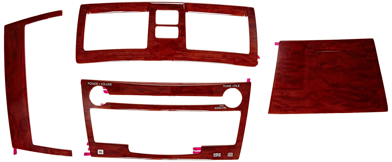 Toyota Genuine Accessories PTS02-33083 Wood Grain Molded Dash Applique with Navigation - 4 Piece