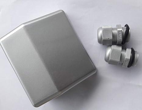 Bujía Doble para Entrada de Cable de 4 mm a 12 mm, Impermeable, ABS, para Antena de satélite de Caravana, Caravana, Barco, Color Blanco y Negro ...